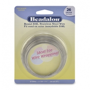 Wrapping wire Rostfreiem Stahl Beadalon 26Gauge Bight Stainless Steel
