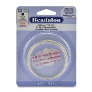 German Style Wire Beadalon 22Gauge square wire Silver