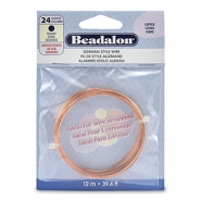 German Style Wire Beadalon 24Gauge round Copper