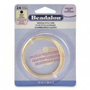 German Style Wire Beadalon 24Gauge round Gold