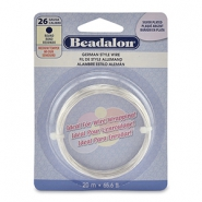 German Style Wire Beadalon 26Gauge round Silver