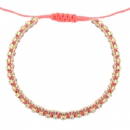 Armband Strass Coral pink-crystal