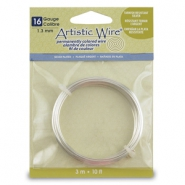 Artistic Wire 16 Gauge Silver plated Tarnish resistant Silver