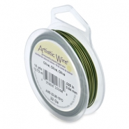 Artistic Wire 22 Gauge Olive green