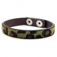 Armband Leopard Olive green