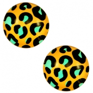 Cabochons Basic 12mm Leopard-gold turquoise