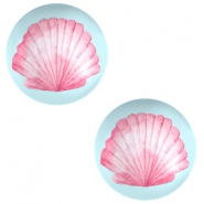 Cabochons Basic 12mm Shell-airy blue