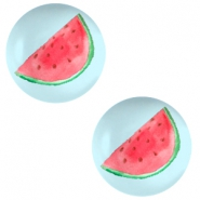Cabochons Basic 20mm Watermelon-Sky blue