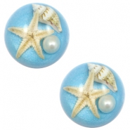 Cabochons Basic Seestern 20mm Paradise blue