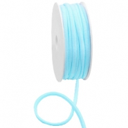 Gestepptes Ibiza Band elastisch Light turquoise blue