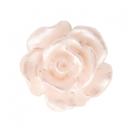 Perlen Rosen 10mm Weiss-light rose quartz pearl shine