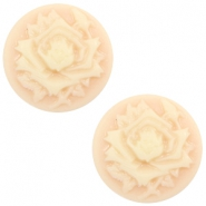 Cabochons Basic Camee 12mm Rose Light peach-beige