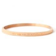 "Stainless Steel - Rostfreiem Stahl Armbänder ""YOU ARE ONE IN A MILLION"" Rosegold"