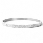 Stainless Steel - Rostfreiem Stahl Armbänder Tropical Leaves Silber