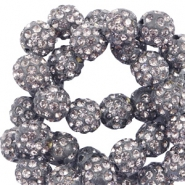 Perlen Strass 10 mm Anthracite grey