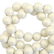 10 mm Perlen aus Acryl matt Silk beige-pearl coating