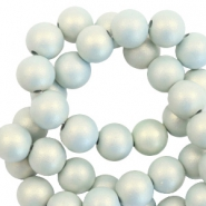 10 mm Perlen aus Acryl matt Light blue-pearl coating