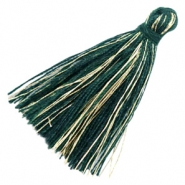 Basic Quaste Perlen Goldline 3cm Dark green