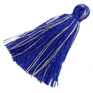 Basic Quaste Perlen Goldline 3cm Royal blue