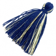 Basic Quaste Perlen Goldline 3cm Dark blue