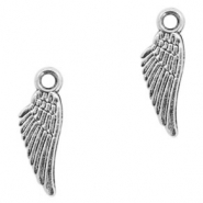 Anhänger Metall Basic quality Angel Wing Antik silber