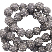 Perlen Strass 8 mm Anthracite