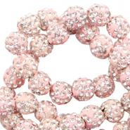 Perlen Strass 10 mm Light pink
