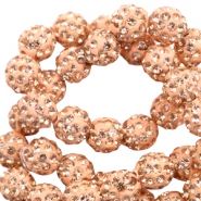Perlen Strass 10 mm Peach