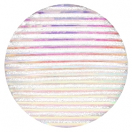 Cabochons Basic 35mm Stripe Silver crystal holographic