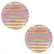 Cabochons Basic 20mm Stripe Champagne holographic