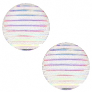 Cabochons Basic 12mm Stripe Silver crystal holographic