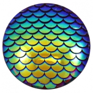 Cabochons Basic 35mm Mermaid Cobalt blue holographic