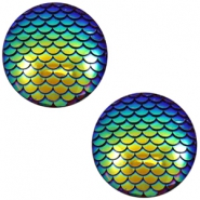 Cabochons Basic 20mm Mermaid Cobalt blue holographic
