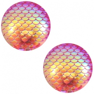 Cabochons Basic 12mm Mermaid Pink holographic