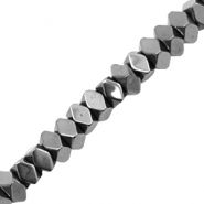 Perlen aus Hematite Facett Disc Anthracite grey