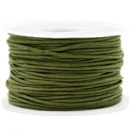 Kordel aus Wachs 1.5mm Army green