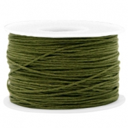 Kordel aus Wachs 1mm Army green