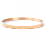 "Stainless Steel - Rostfreiem Stahl Armbänder ""LOVE LIFE AND ENJOY EVERY MOMENT"" Rosegold"