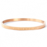 "Stainless Steel - Rostfreiem Stahl Armbänder ""YOU ARE MY STAR IN THE SKY"" Rosegold"