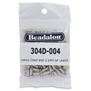 Spring Cord end 2.2mm Beadalon Silber