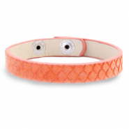 Armband Snake Living coral red