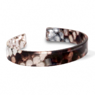 Armband Resin loose fit Snake shiny Brown-grey