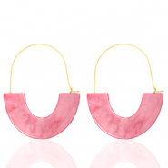 Musthave Ohrringe Resin Pink-gold
