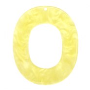 Anhänger aus Resin oval 48x40mm Sunshine yellow