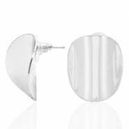 Musthave Ohrringe oval Silber (Nickelfrei)