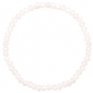 Top Facetten Glas Armband 4x3mm Light lavender pink opal-pearl shine coating