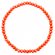 Top Facetten Glas Armband 4x3mm Coral orange-pearl shine coating