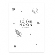 Karten für Schmuck 'I love you to the moon and back' White