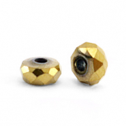 Perlen aus Hematite Facett Disc 4x2mm Gold