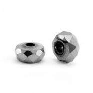 Perlen aus Hematite Facett Disc 4x2mm Anthracite grey